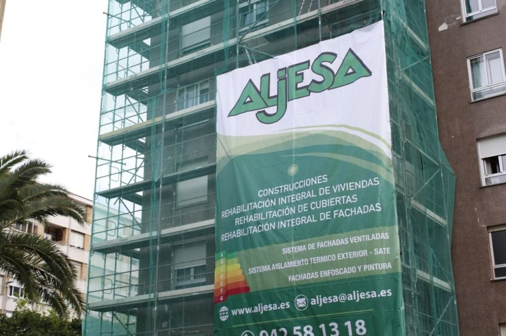 Reforma fachada en Calle del Monte en Santander